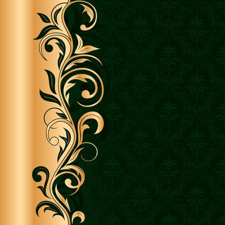 rococo: Decorative template for text, illustration