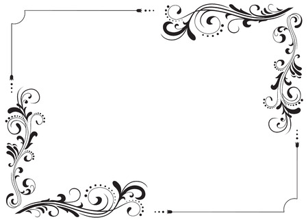 Motifs décoratifs pour le décor, illustration  Vecteurs