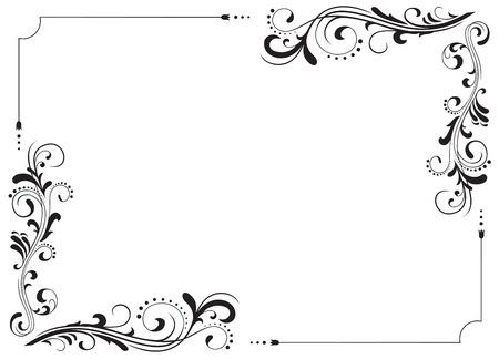 Motivi ornamentali per l'illustrazione arredamento, Vettoriali