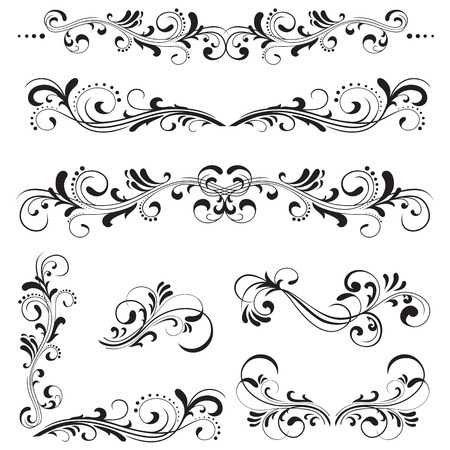 fancy design: Ornate elements for decor, Illustration