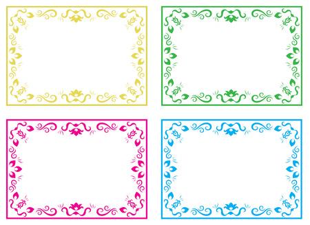 crocket: Different versions of a pattern, illustration Illustration