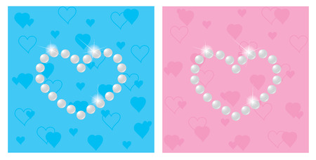 nacre: Pearls in the form of the heart