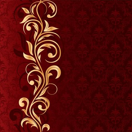 vine border: Decorative template for text, illustration