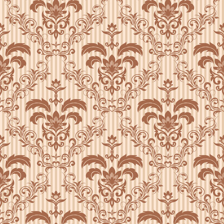 nouveau: Seamless ornamental wallpaper, floral pattern, illustration