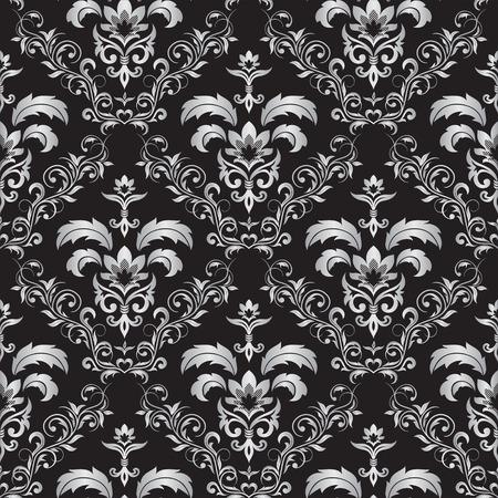 crocket: Seamless ornamental wallpaper, floral pattern, illustration