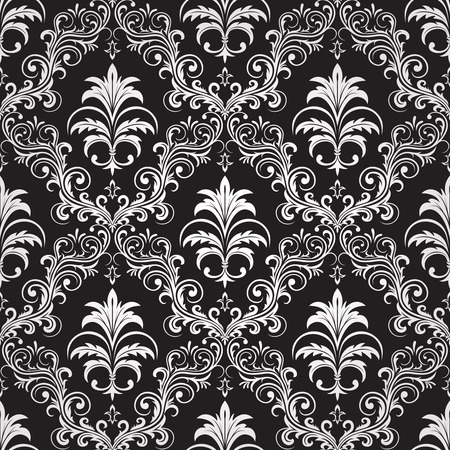 nobody: Seamless ornamental wallpaper, floral pattern, illustration