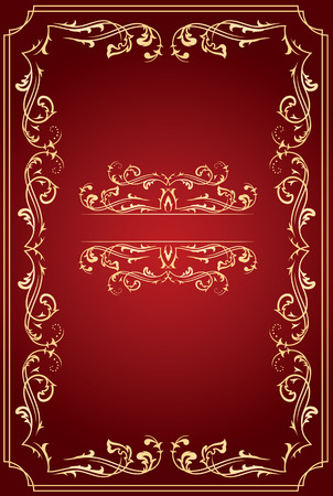 free place: Template frame for text, illustration