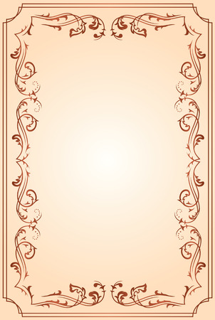 fancy border: Template frame for text, illustration