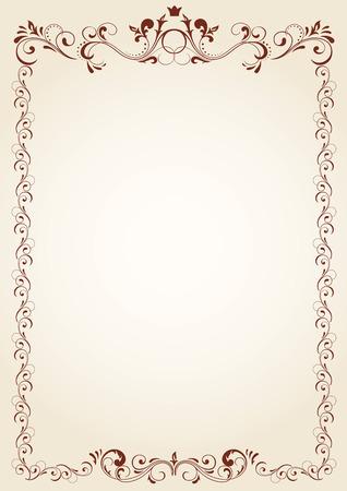 fancy border: Marco Vintage para texto, ilustraci�n