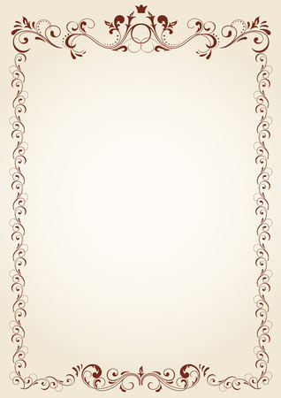 fancy border: Vintage frame for text, illustration Illustration