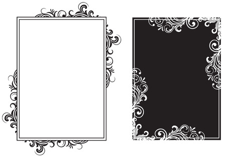 corner border: Decorative template grunge background, illustration