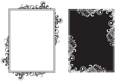 vine border: Decorative template grunge background, illustration