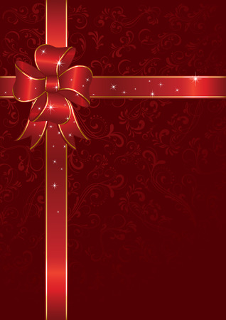 lustre: Bow and ribbon wrapping paper sheet, illustration
