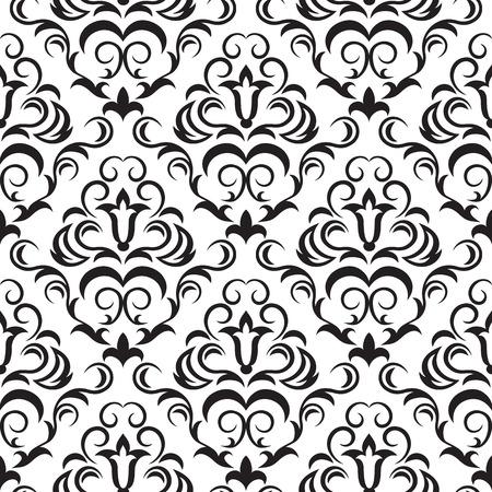 Seamless ornamental wallpaper, floral pattern, illustration Stock Vector - 7185087
