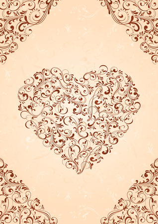 ornamental background: Decorative template from ornate elements, illustration