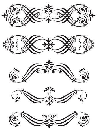 crocket: Set of ornamental elements, Illustration