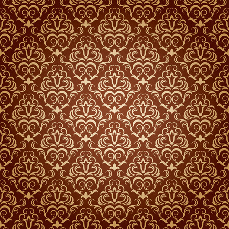fancy design: Seamless ornamental wallpaper, floral pattern, illustration