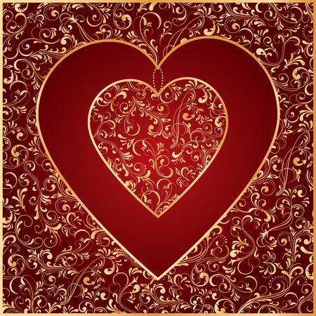 st valentins day: Modello decorativo da ornato elementi, illustrazione