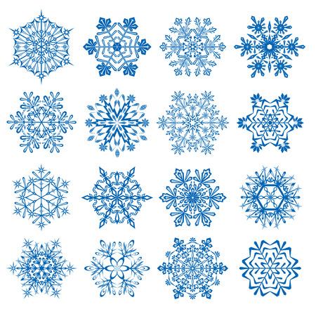 frozen: Set of Snowflakes, illustration