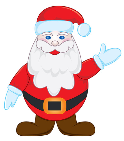 genial: Santa waves by the hand, illustration
