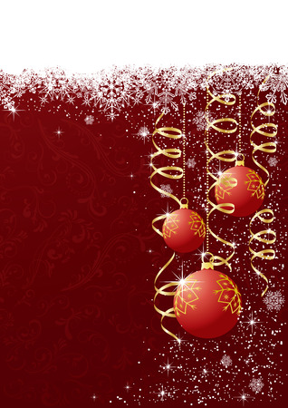 Abstract Christmas background with Christmas balls, illustration Stock Vector - 7436931
