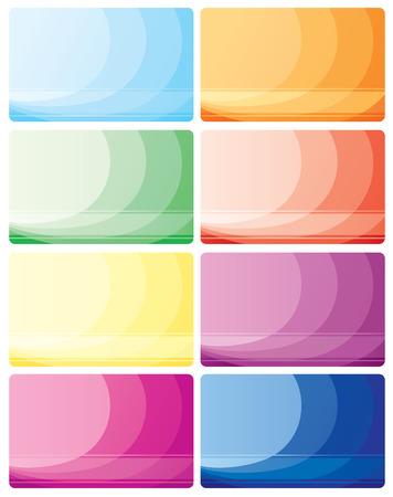 charge card: Set of business cards, illustration Illustration