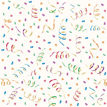 streamers: Fondo transparente con serpentinas de parte y confeti, ilustraci�n  Vectores