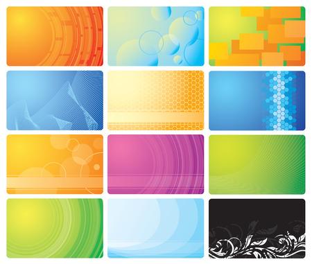 Set of business cards, illustration