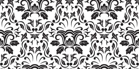 crocket: Seamless Gothic ornamental wallpaper, floral pattern, illustration Illustration