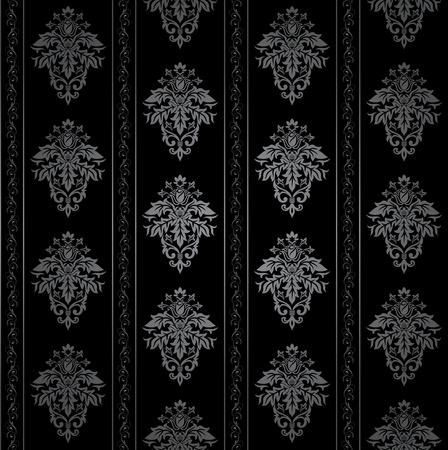 gothique: Sans soudure wallpaper ornemental gothique, motif floral, illustration