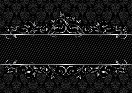 Background with decorative frame, illustration Vector