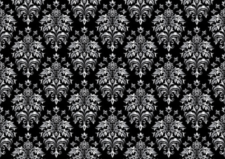 Seamless ornamental wallpaper, floral pattern, illustration Stock Vector - 7824993