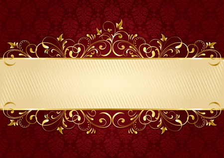 Background with decorative frame, illustration Stock Vector - 7824996