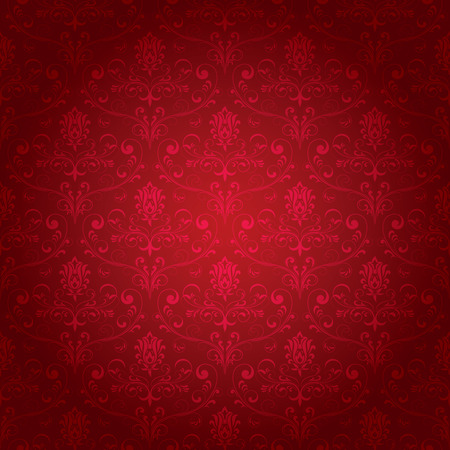 Seamless ornamental wallpaper, floral pattern, illustration Stock Vector - 7824991