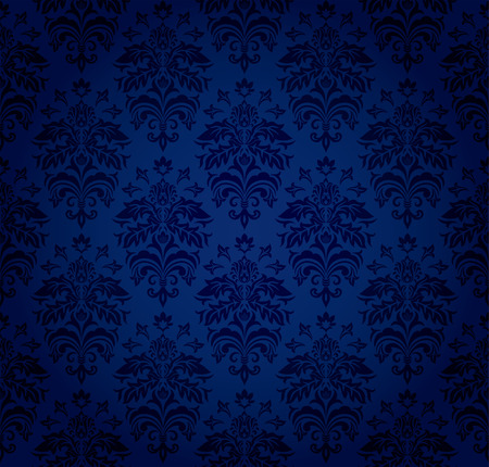 Seamless ornamental wallpaper, floral pattern, illustration Stock Vector - 7824987