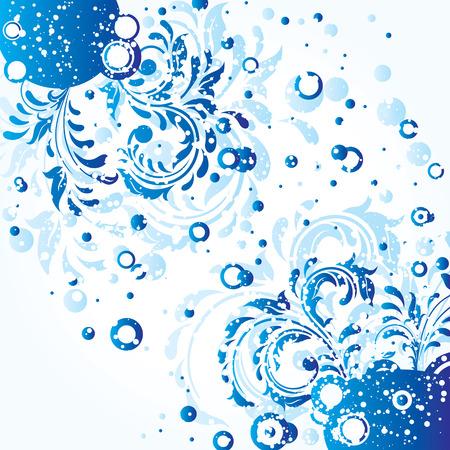 Decorative template grunge background, illustration Stock Vector - 7824989
