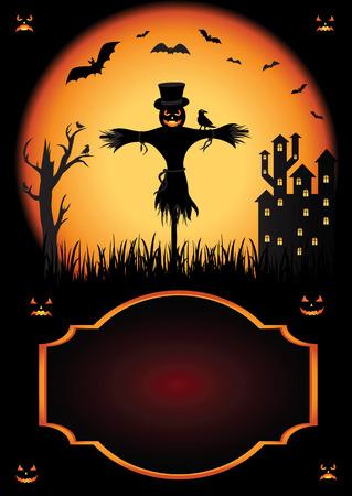 jack o: Halloween background with Jack O Lantern, illustration