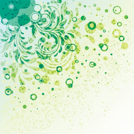 swirl composition: Decorative ornate template, grunge background, illustration Illustration