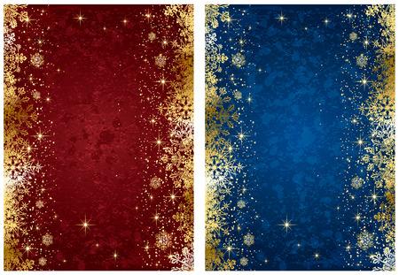 frieren: Abstrakt Winter, mit Sternen und Schneeflocken, illustration
