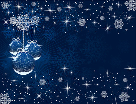 Abstract background with Christmas balls, illustration Stock Vector - 7929884