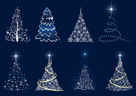 goldy: Fondo con �rboles de Navidad, ilustraci�n