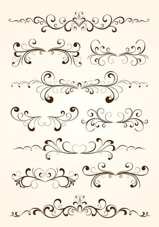 vid: Conjunto de elementos florales para decoraci�n, ilustraci�n