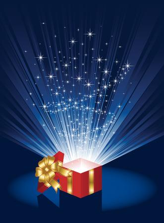 волшебный: Открытое Подарочная коробка магии, иллюстрации