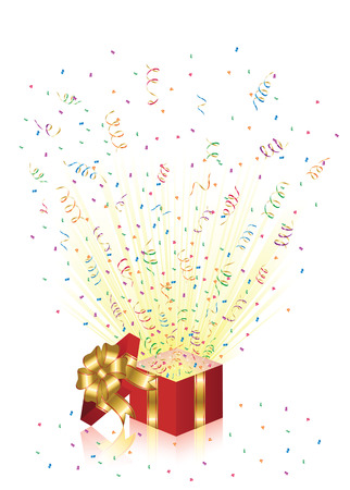 Open magic Gift box, illustration Stock Vector - 8007968