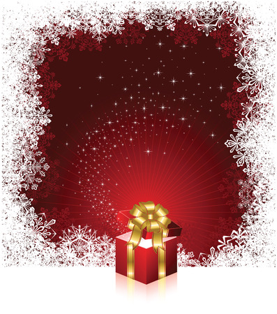 Open magic Gift box, illustration Stock Vector - 8093623