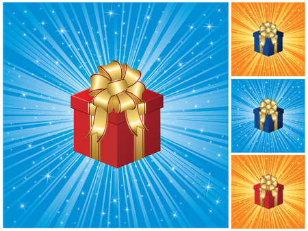 Closed magic Gift box, illustration Stock Vector - 8093632
