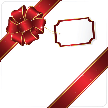 wrapping: Holiday bow and ribbon, illustration