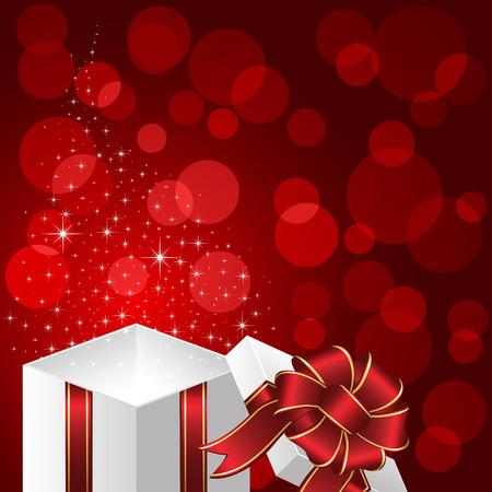 Open magic Gift box, illustration Stock Vector - 8345949