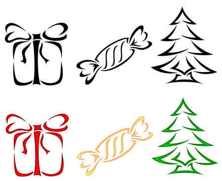 Set of Christmas icons, illustration Stock Vector - 8345954