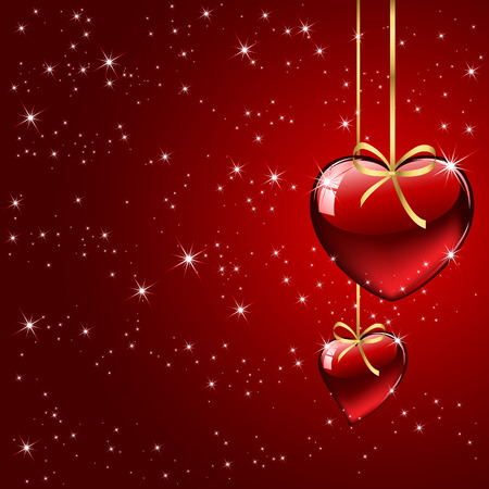 st valentin's day: Background with red Hearts, illustration